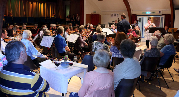 Audience enjoying the Sedbergh Orchestra 2016 Cafe Concert